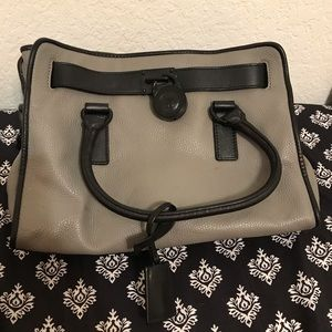 Michael Kors Gray and Black Pebbled Leather Purse